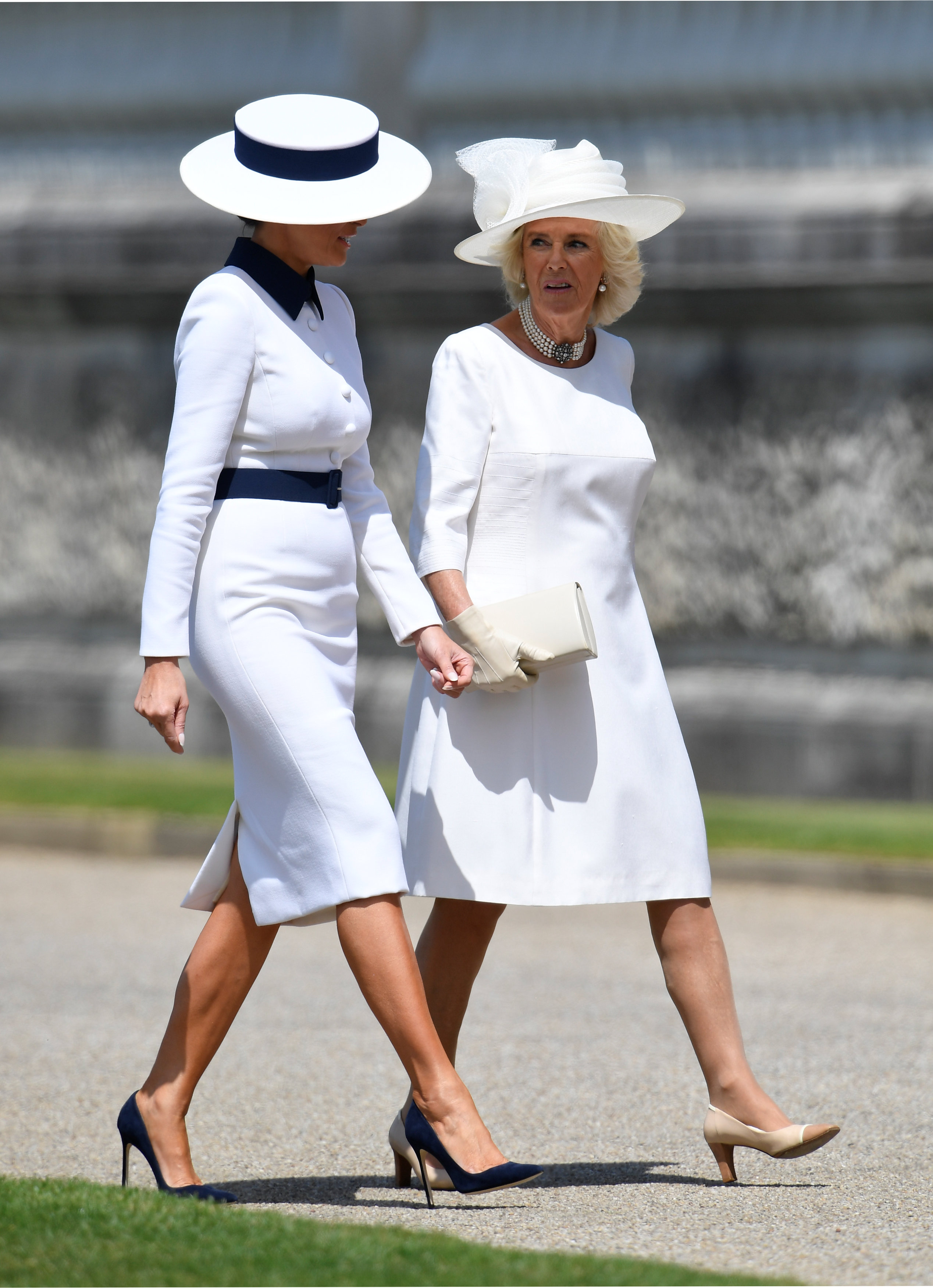 Melania Trump, looks, londres, gran bretana, reina isabel