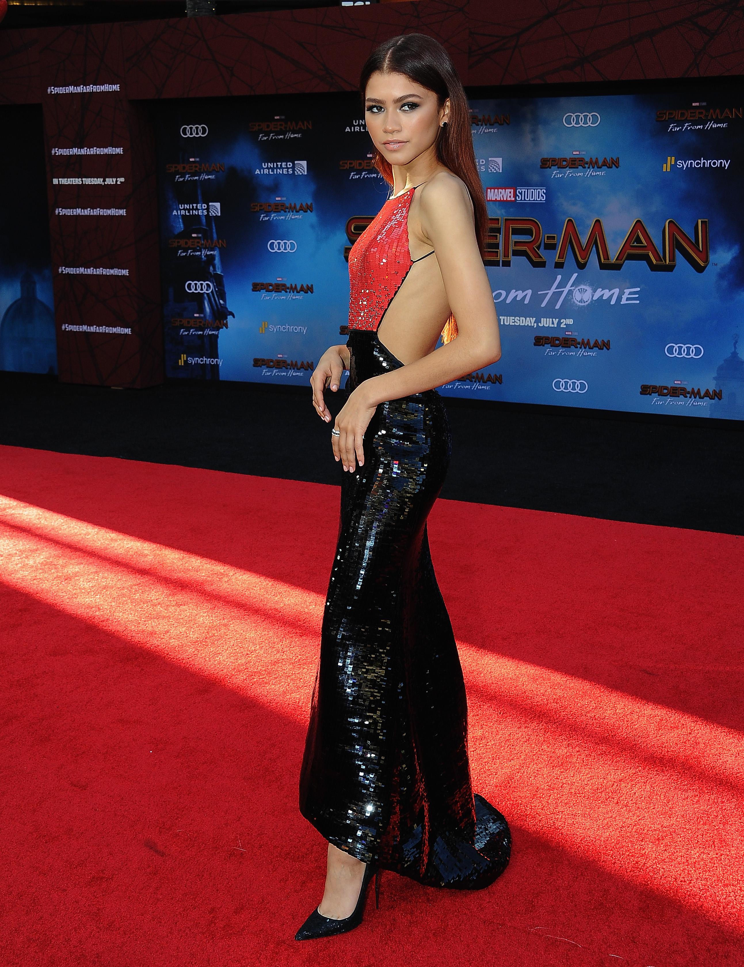 Zendaya, looks, hollywood, premier, spiderman far from home