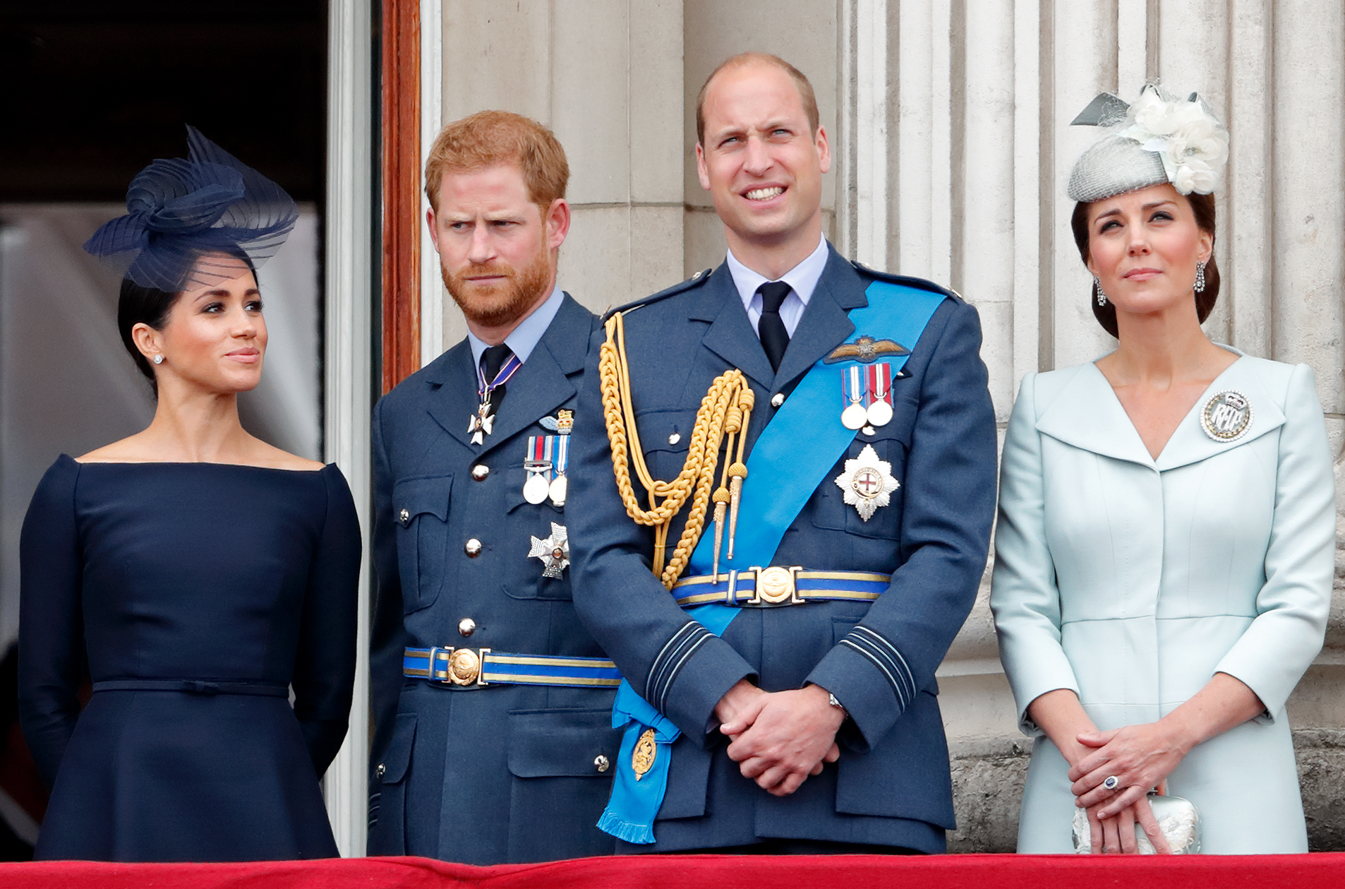 eghan, Duchess of Sussex, Prince Harry, Duke of Sussex, Prince William, Duke of Cambridge and Catherine, Duchess of Cambridge