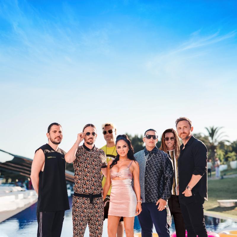 David Guetta, Afro Bros, Daddy Yankee y Natti Natasha canción instagram