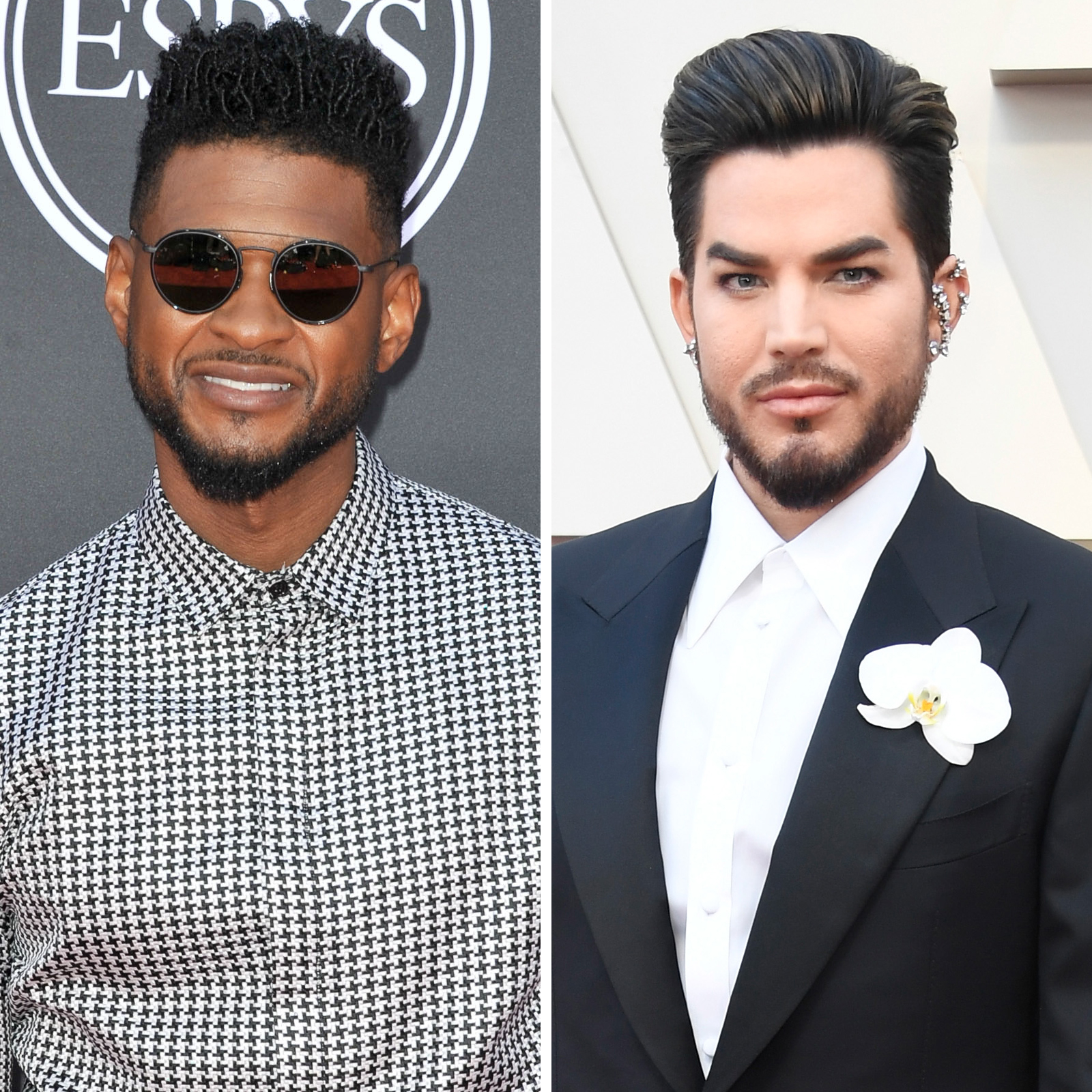 Usher y Adam Lambert