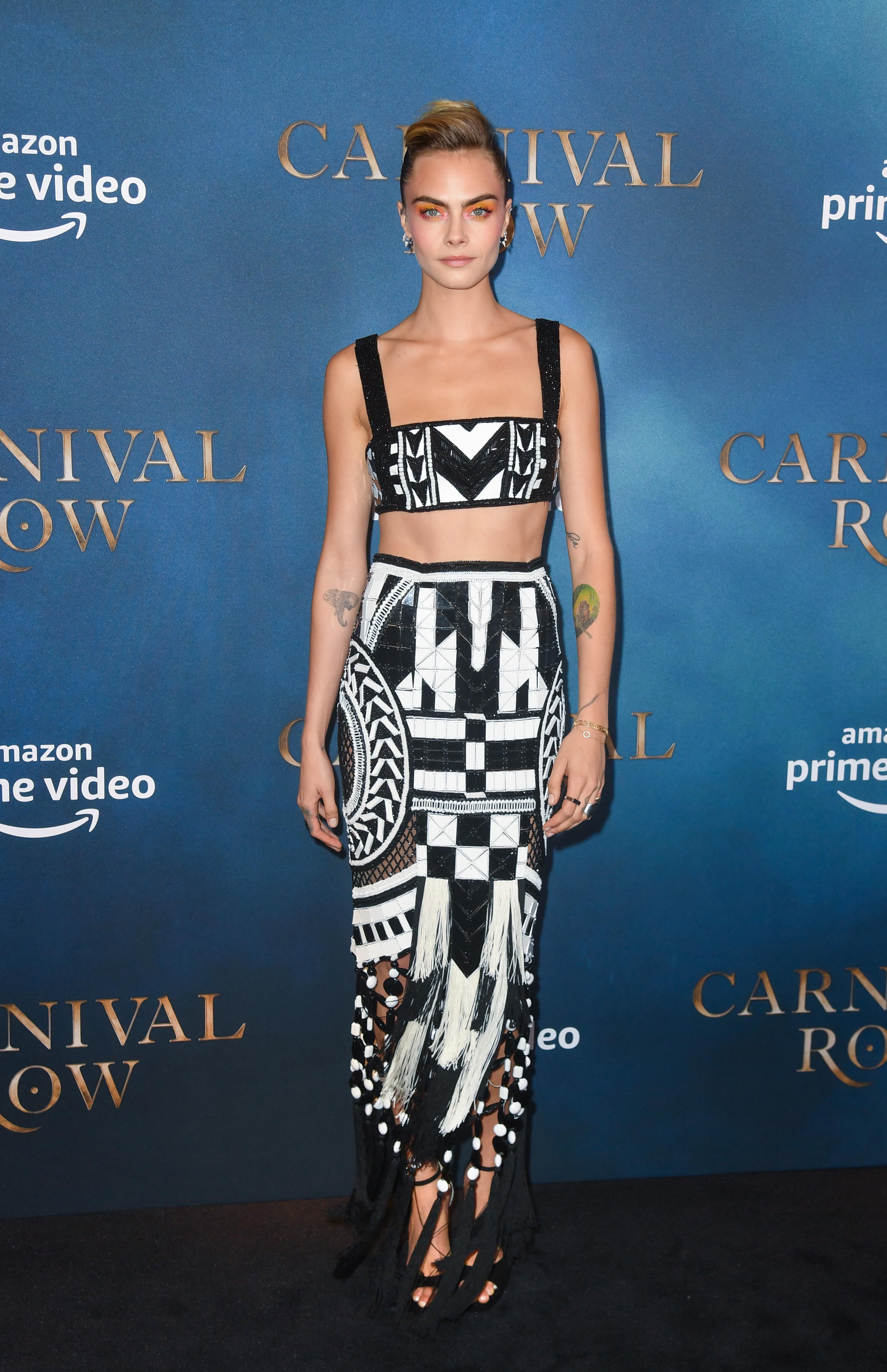 Cara Delevingne, look, premier, londres, Carnival Row