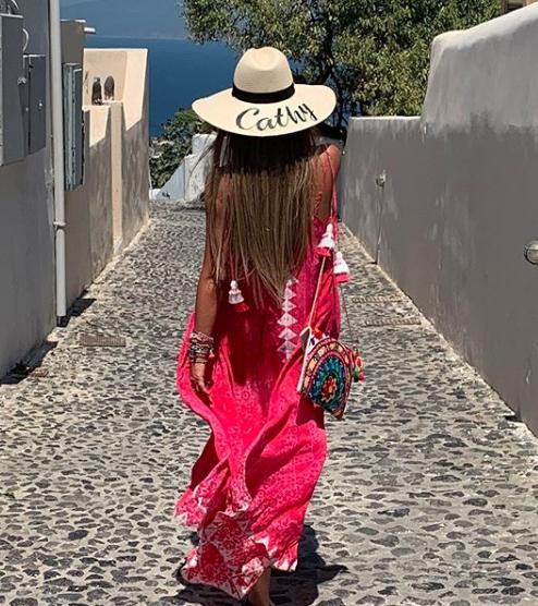 Catherine Siachoque, vacaciones, grecia