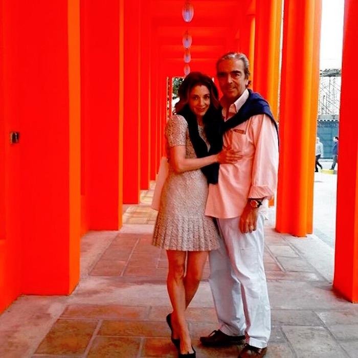 Edith González y su marido Lorenzo Lazo