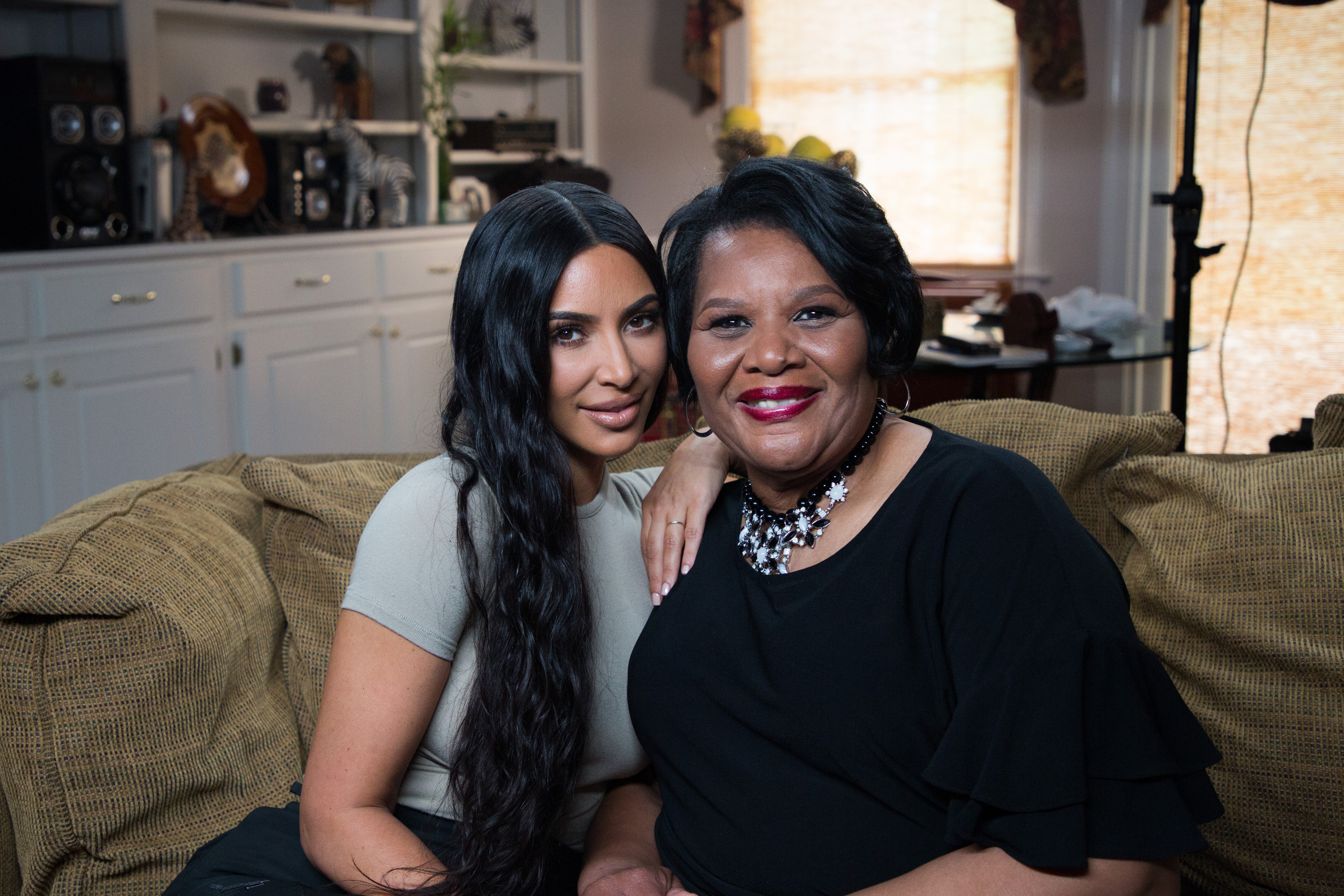 Kim Kardashian West and Alice Johnson