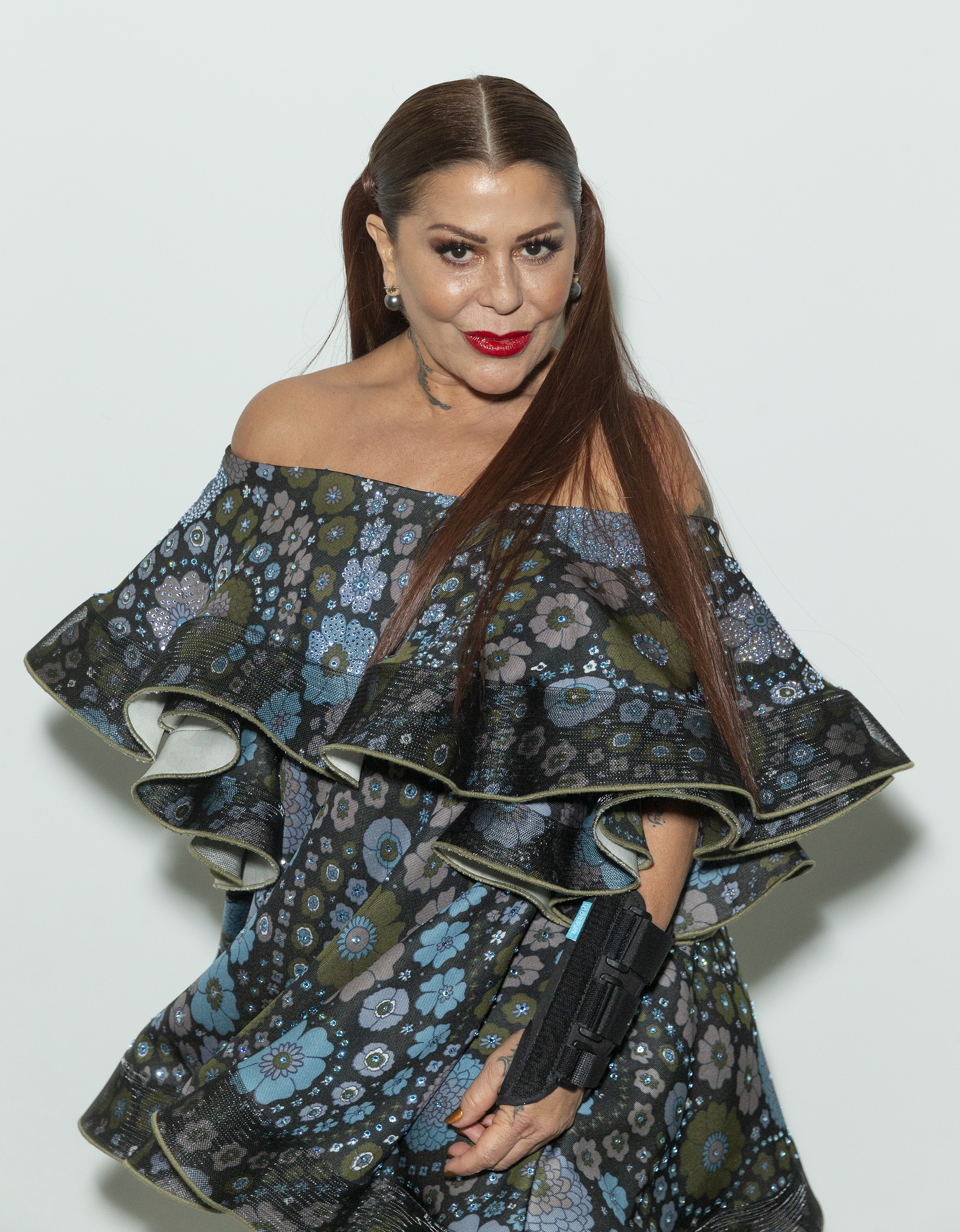 Alejandra Guzman attends runway for Custo Barcelona