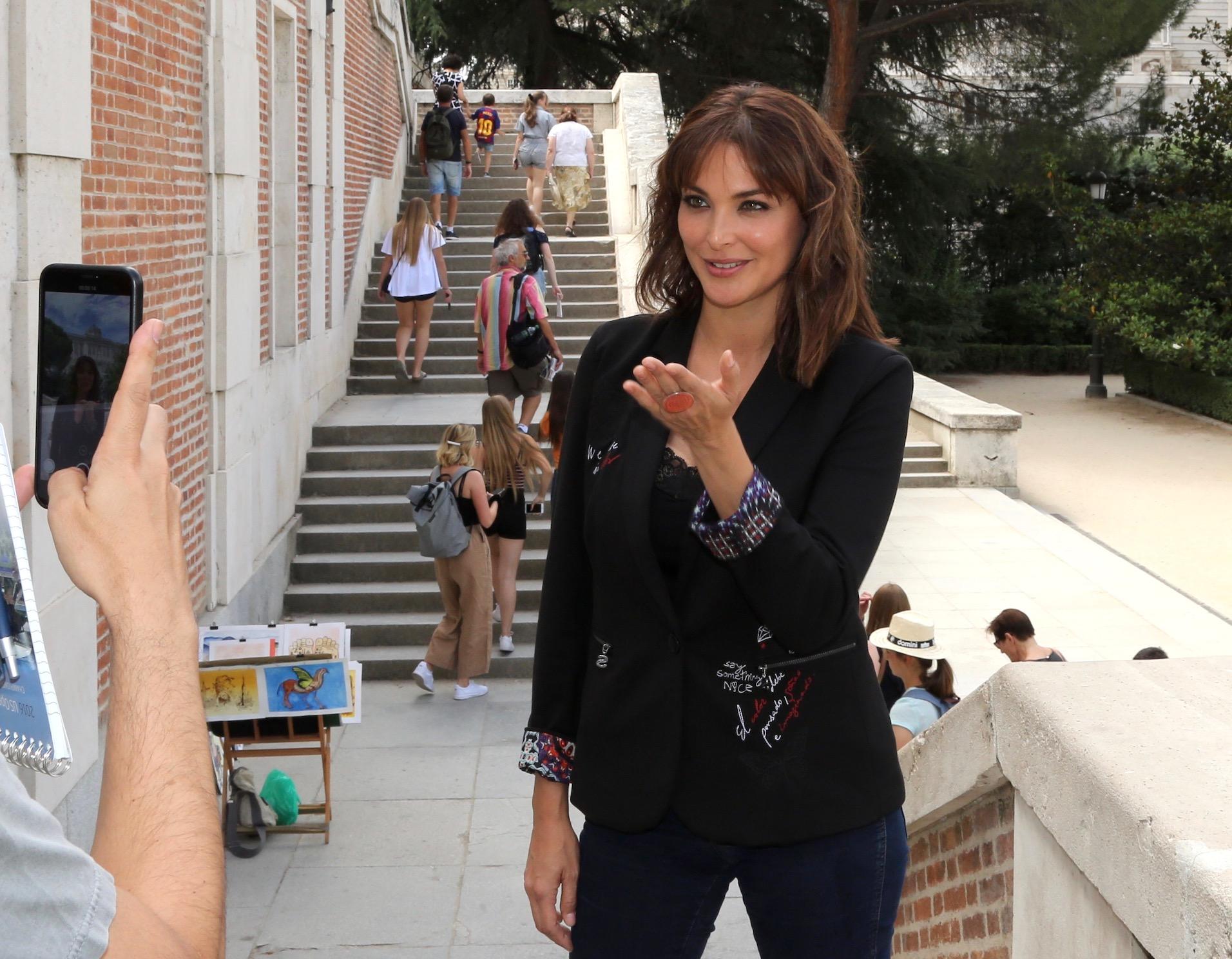 Blanca Soto en madrid teleserie No te puedes esconder