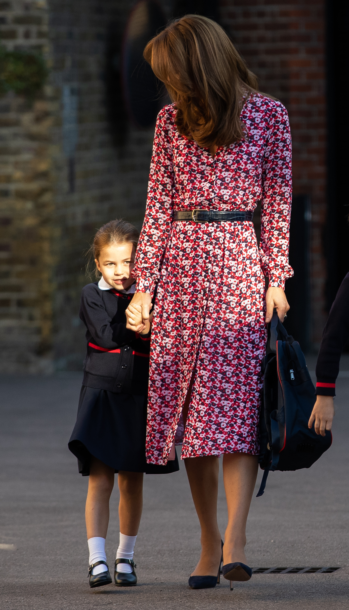Kate middleton, look, primer dia de escuala, princesa charlotte, principe George