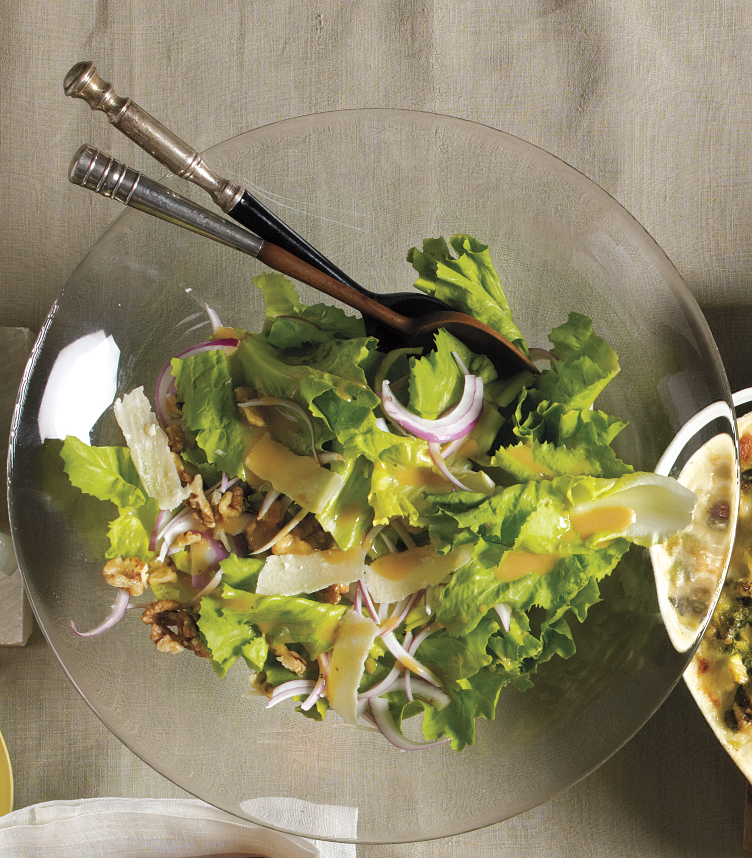 Escarole Salad With Walnuts And Parmesan Recipe Real Simple