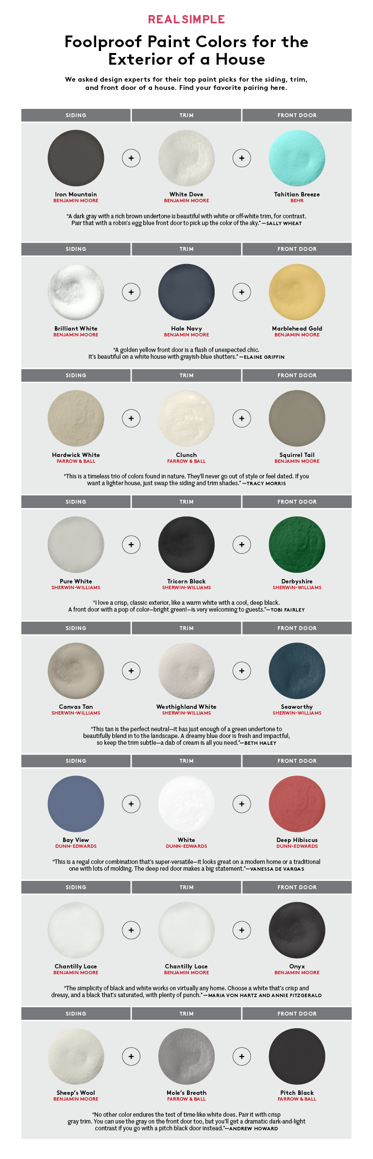 Image of: Exterior House Colors Chart Real Simple