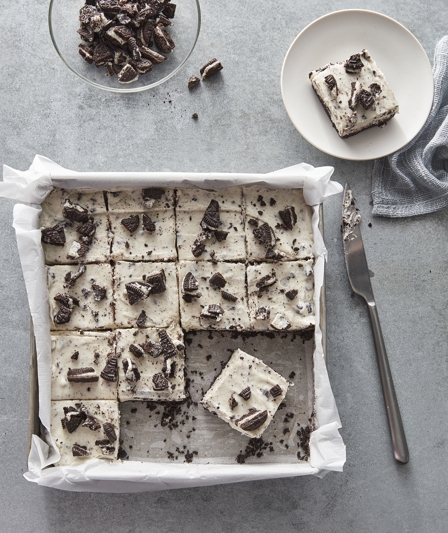 No Bake Cookies And Cream Bars Recipe Real Simple