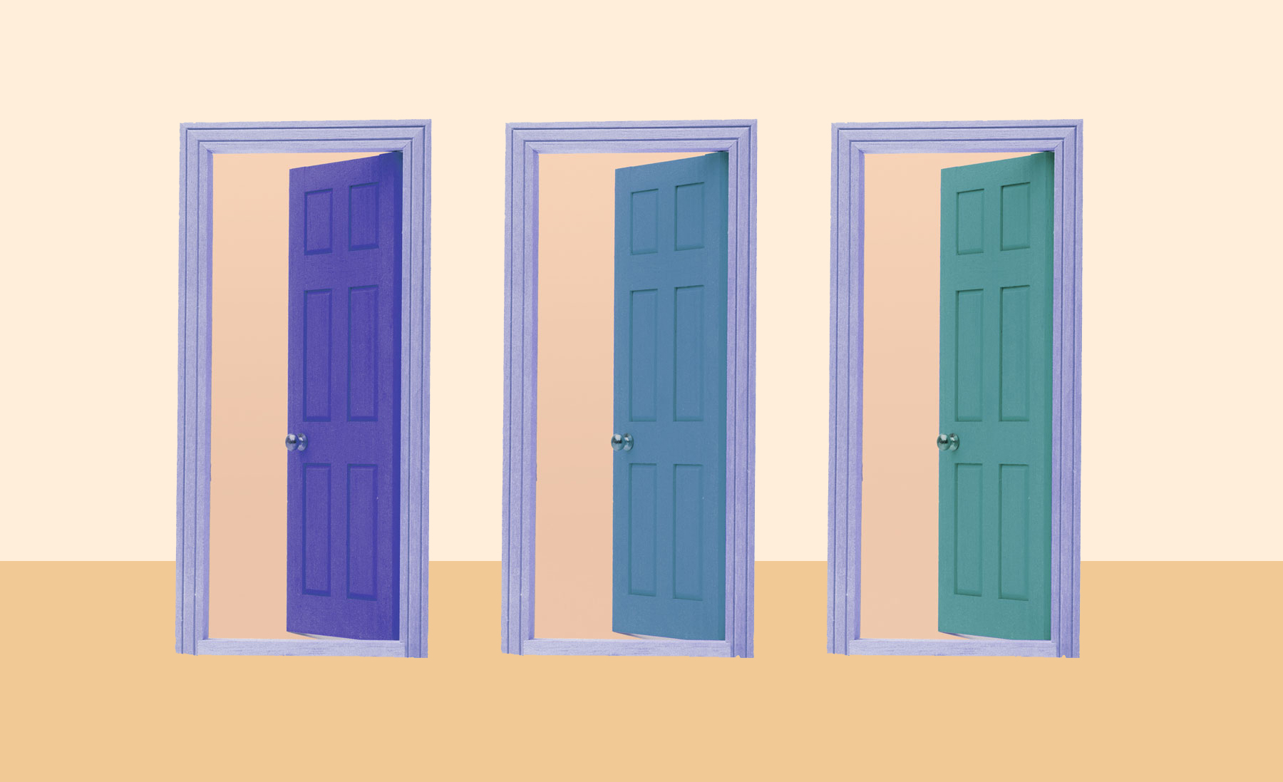Trend Alert Painted Interior Doors Are The New Accent Wall Real Simple