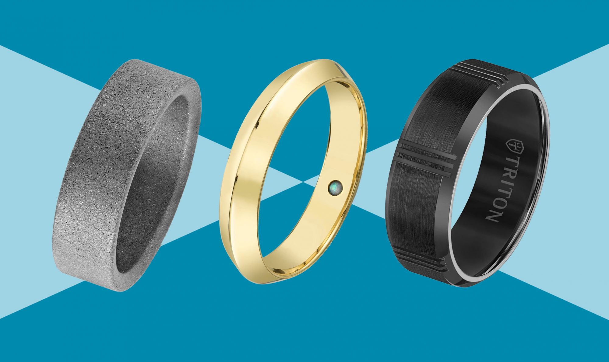 Wedding gift for him Men/'s Black Silicone Wedding Ring  Band Extremely Durable  Made for Work /& Play
