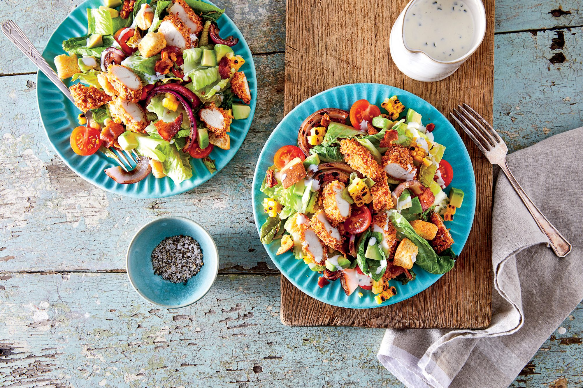 Oven Fried Chicken Salad With Buttermilk Ranch Dressing Recipe Southern Living