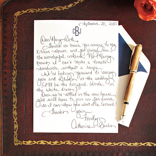 How To Write A Charming Thank You Note