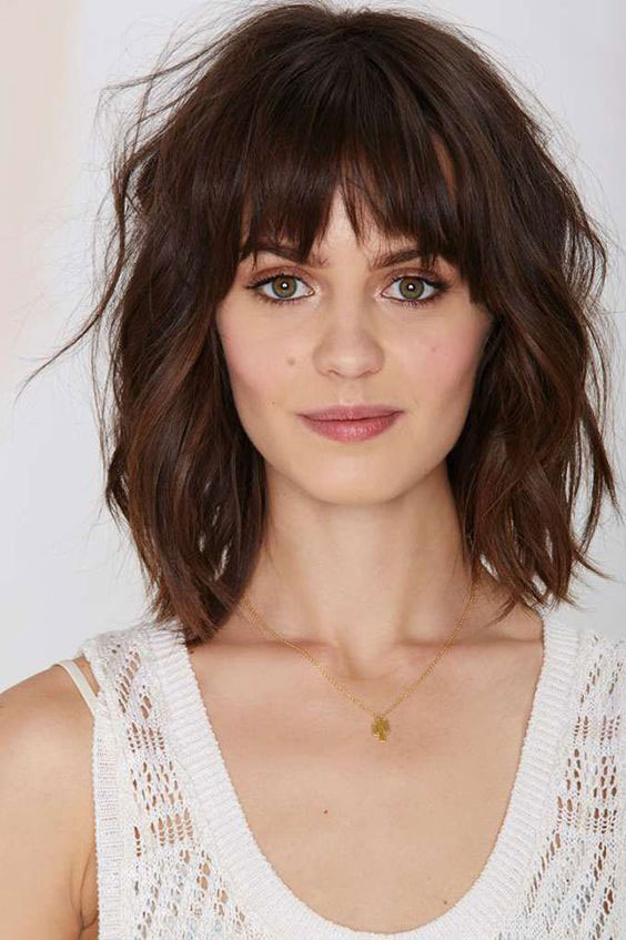 Long Layered Hairstyles With Bangs 2019 33