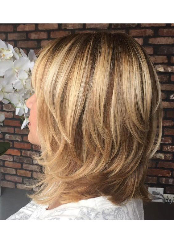 Back View Shoulder Length Layered Haircuts For Thick Hair 48