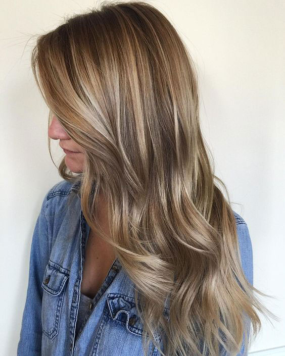 Gorgeous Brown Hairstyles with Blonde Highlights