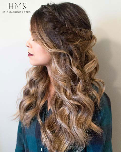 Medium Hairstyles For Curly Hair Girls 76