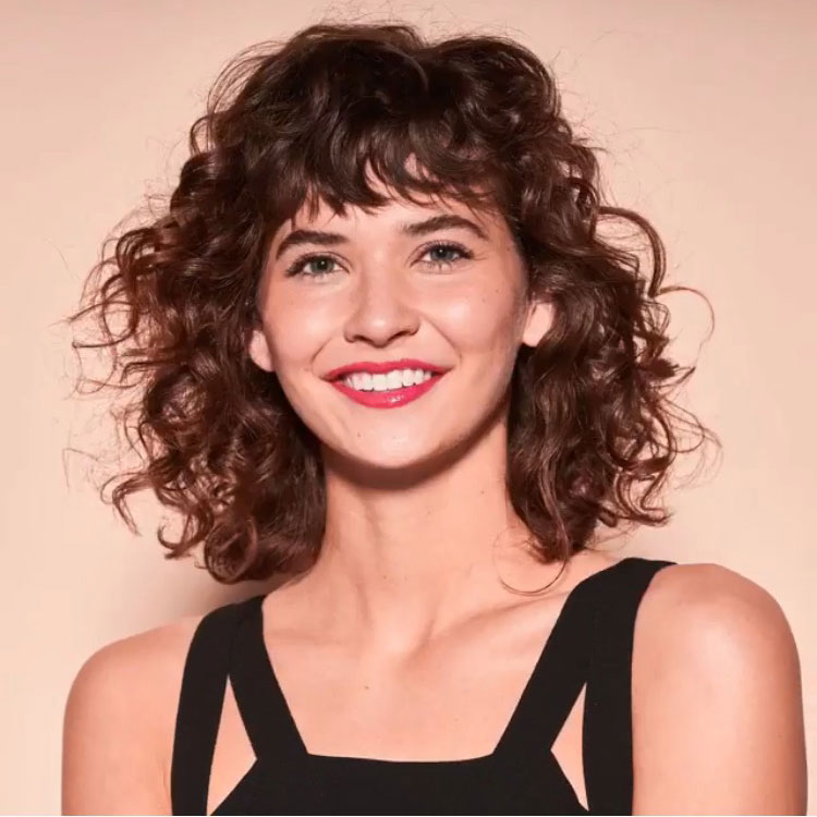 Short Curly Hair With Bangs And Layers 9