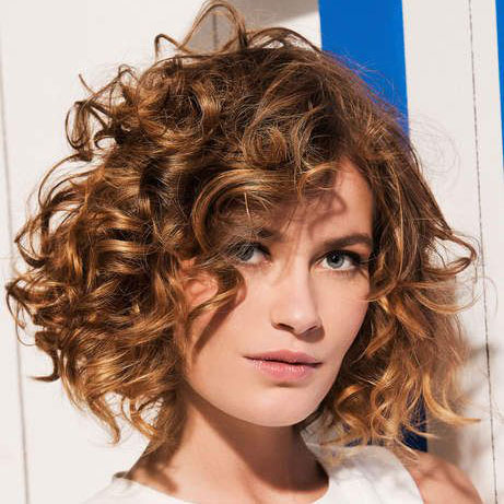 Short Curly Hair With Bangs And Layers 62