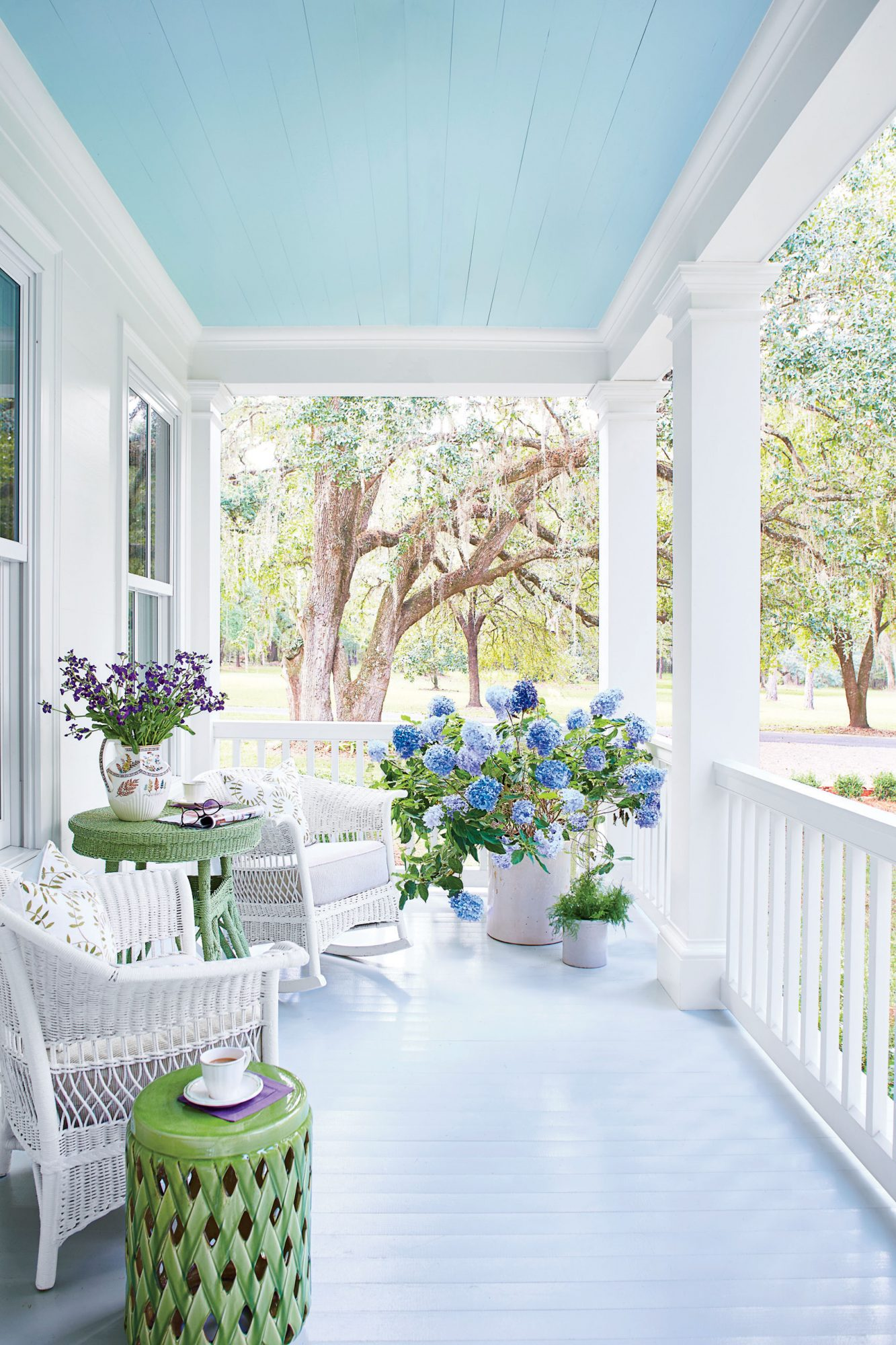 The One Thing To Know Before Painting Your Porch Ceiling Southern Living