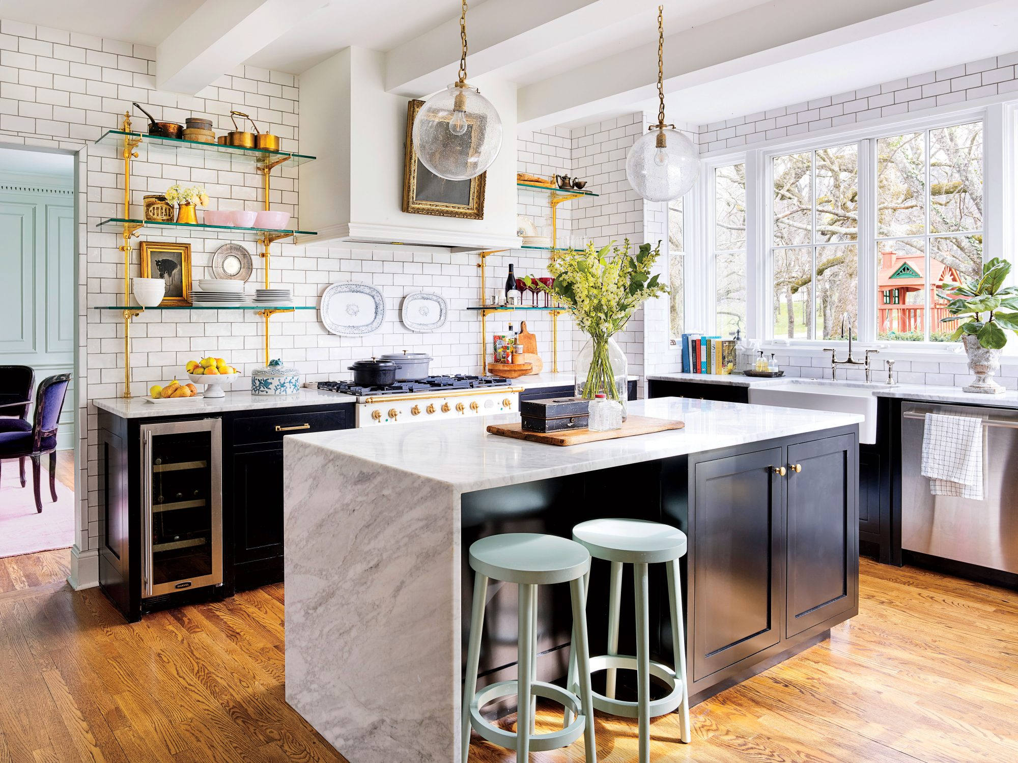 Prepare to Fall In With This White Colonial Revival in ... on colonial floor plans, colonial house plans, colonial landscape plans, colonial kitchen plans, colonial garden plans, colonial building plans, colonial garage plans,