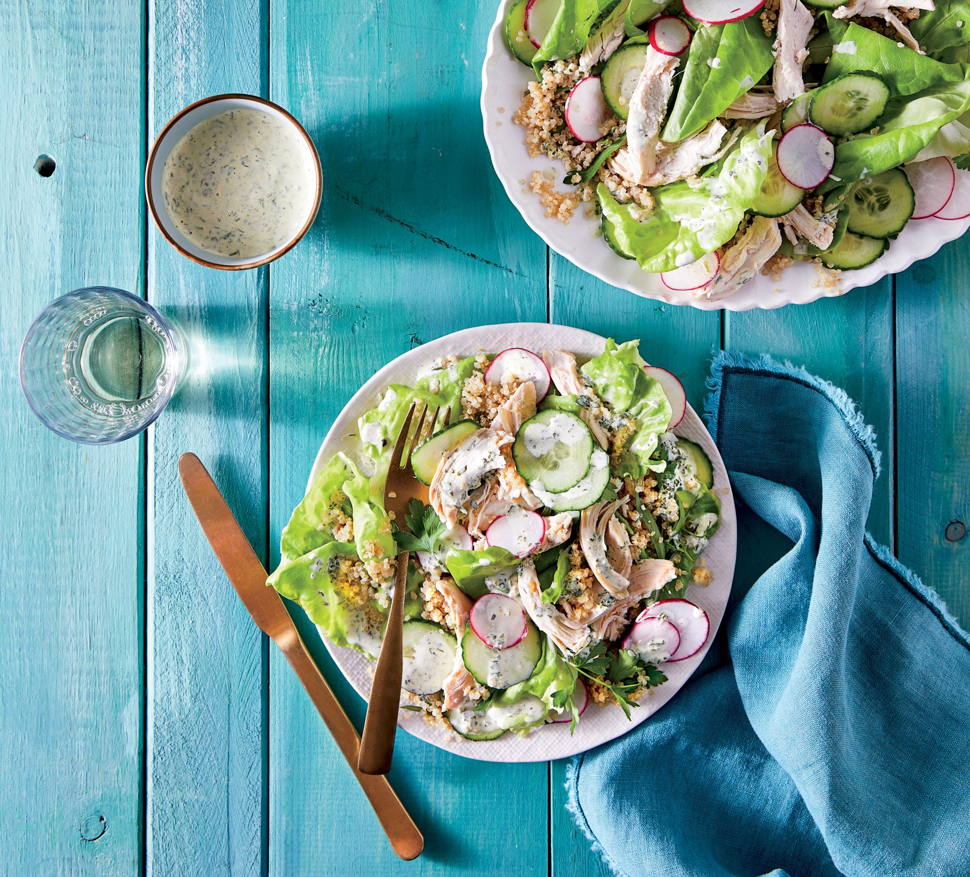 Chicken Quinoa Salad With Green Goddess Dressing Recipe Southern Living