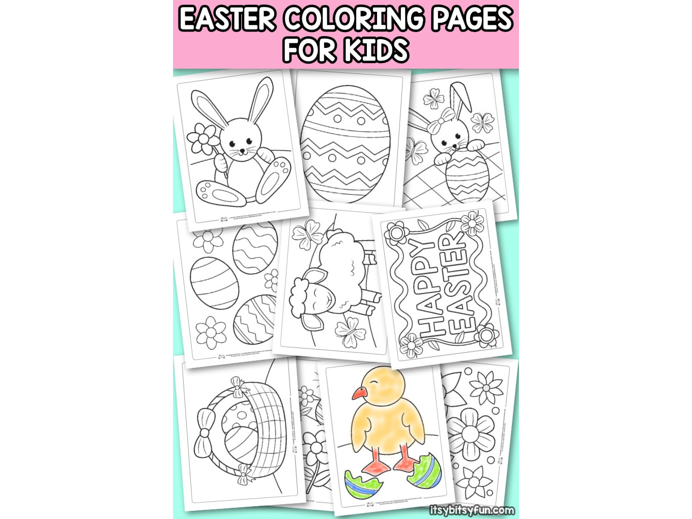 Easter Coloring Pages to Keep Kids Entertained All Day Long