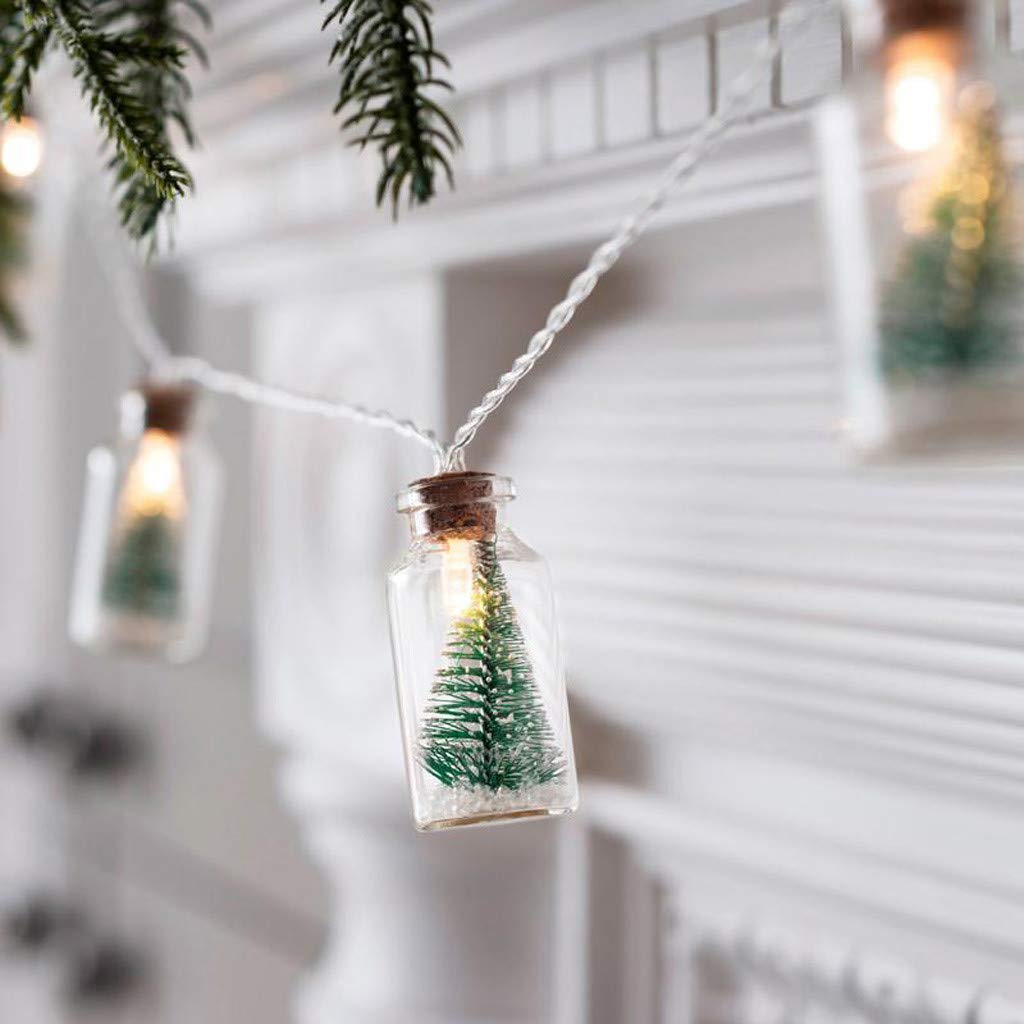 These Holiday String Lights Feature Mini Christmas Trees In Drifting Bottles Southern Living