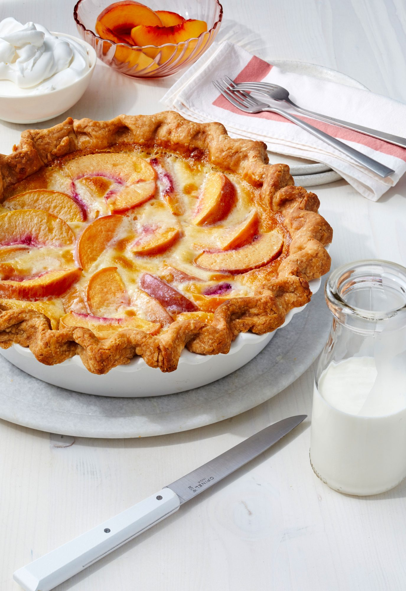 Peach Custard Pie Southern Living