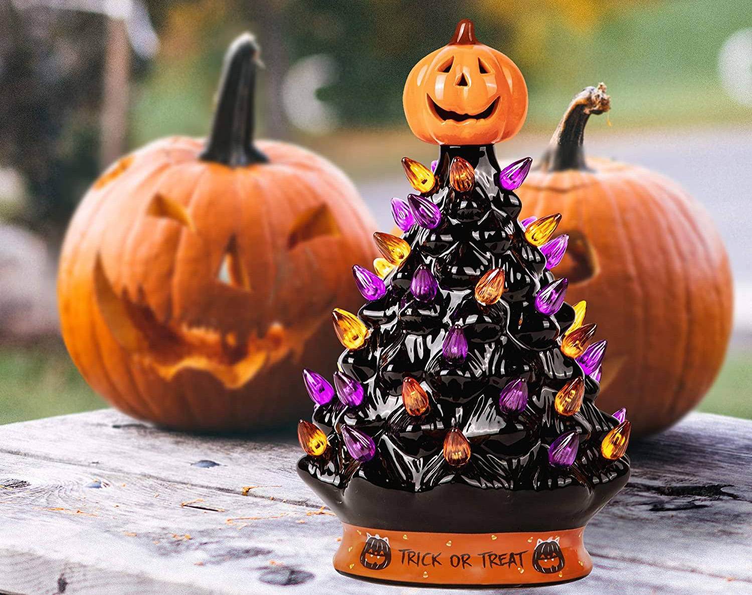 Amazon S Ceramic Halloween Tree Keeps Selling Out Get Yours Before It S Too Late Southern Living