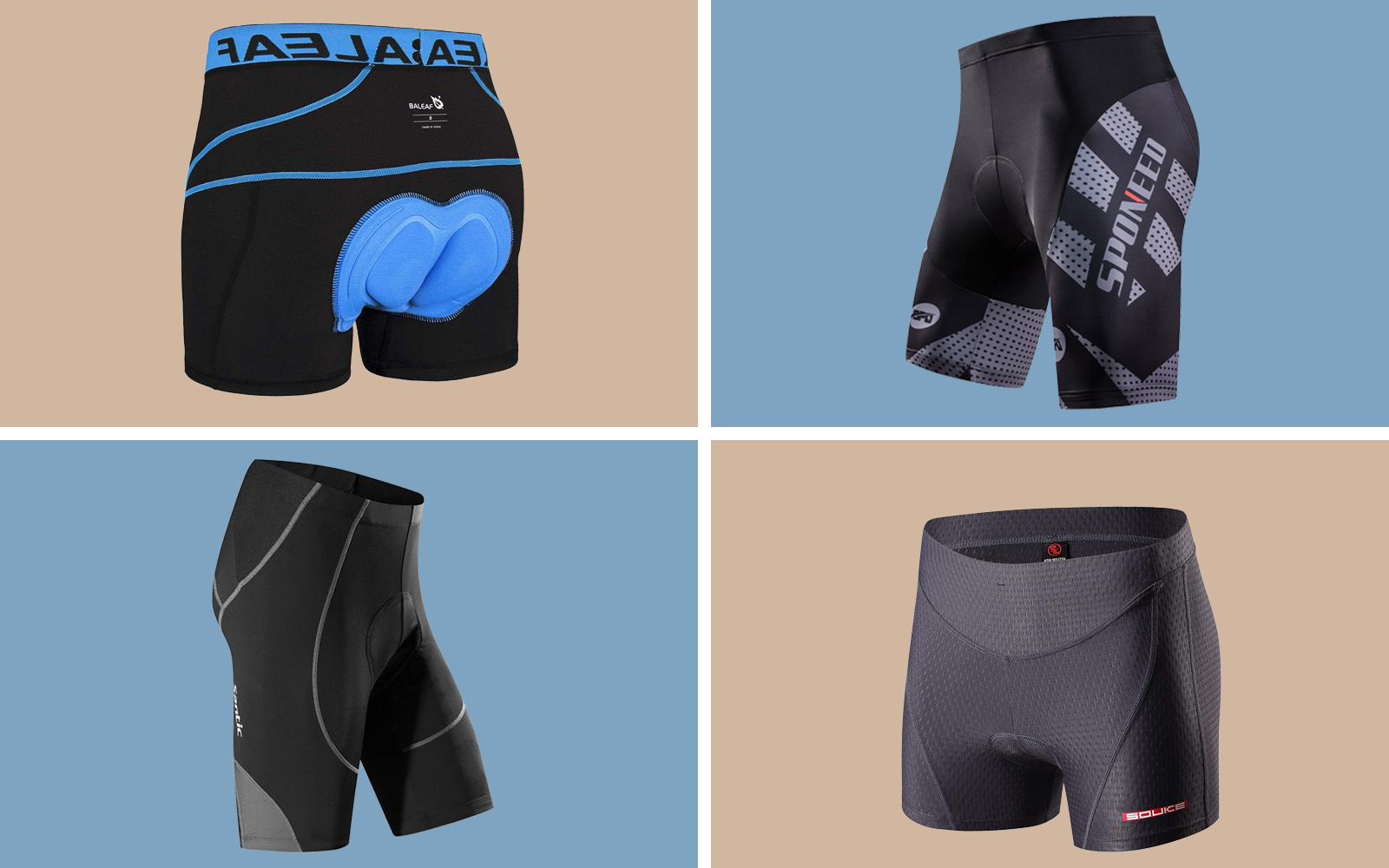 Mens Womens Cycling Shorts Pants Underwear Bicycle Riding Sports Gym Bottoms UK