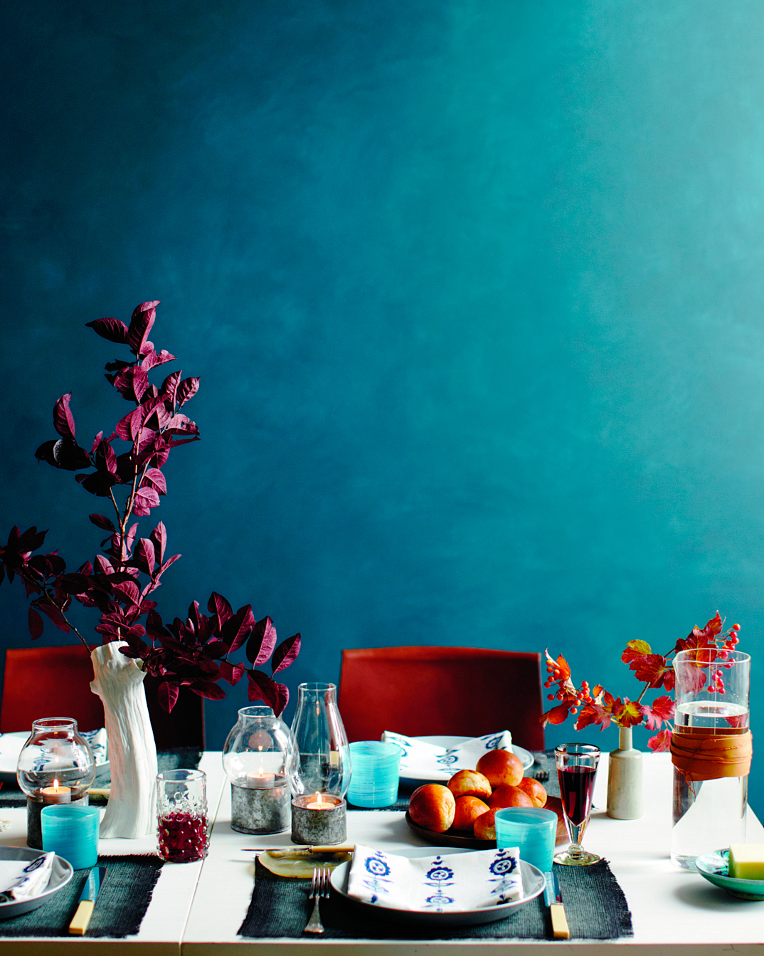 Richly Colored Tablescape