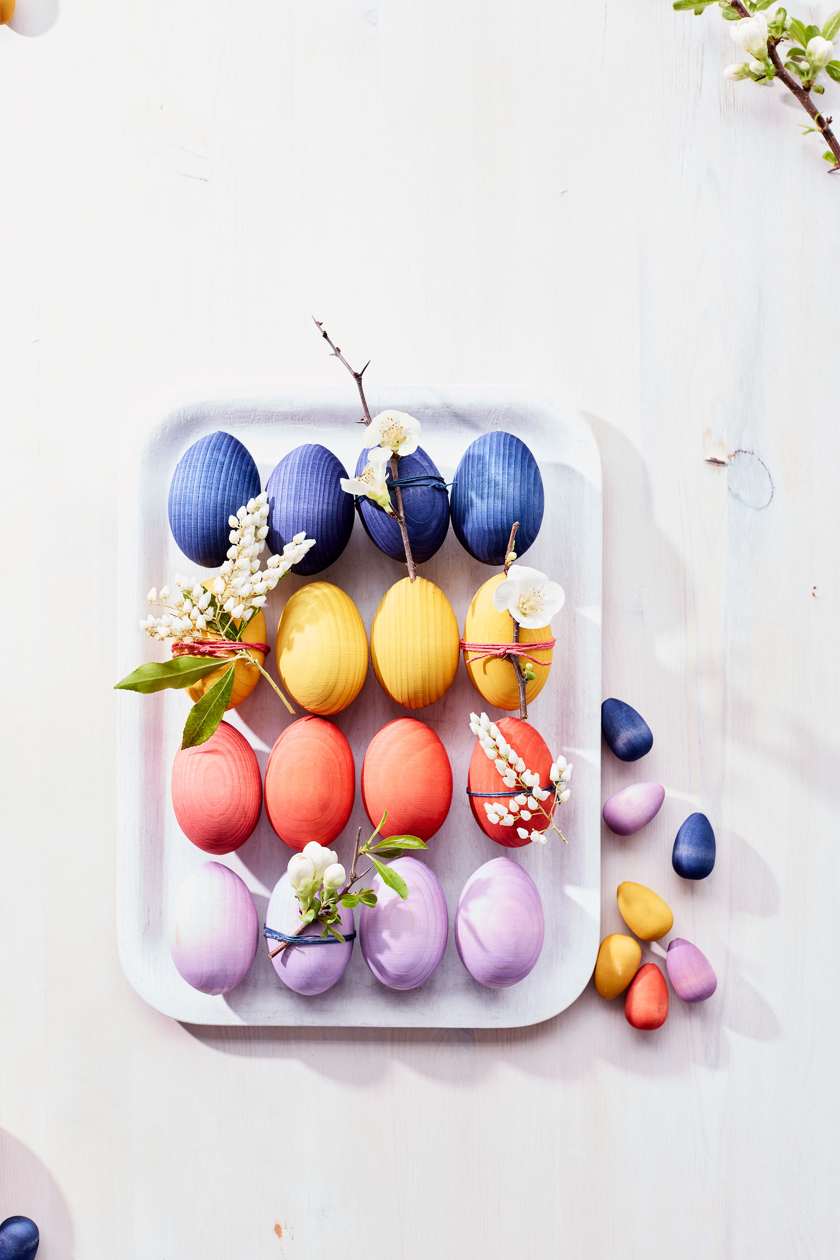 painted wooden eggs