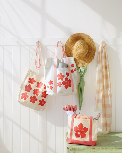 Tote Bag with Iron-On Blooms