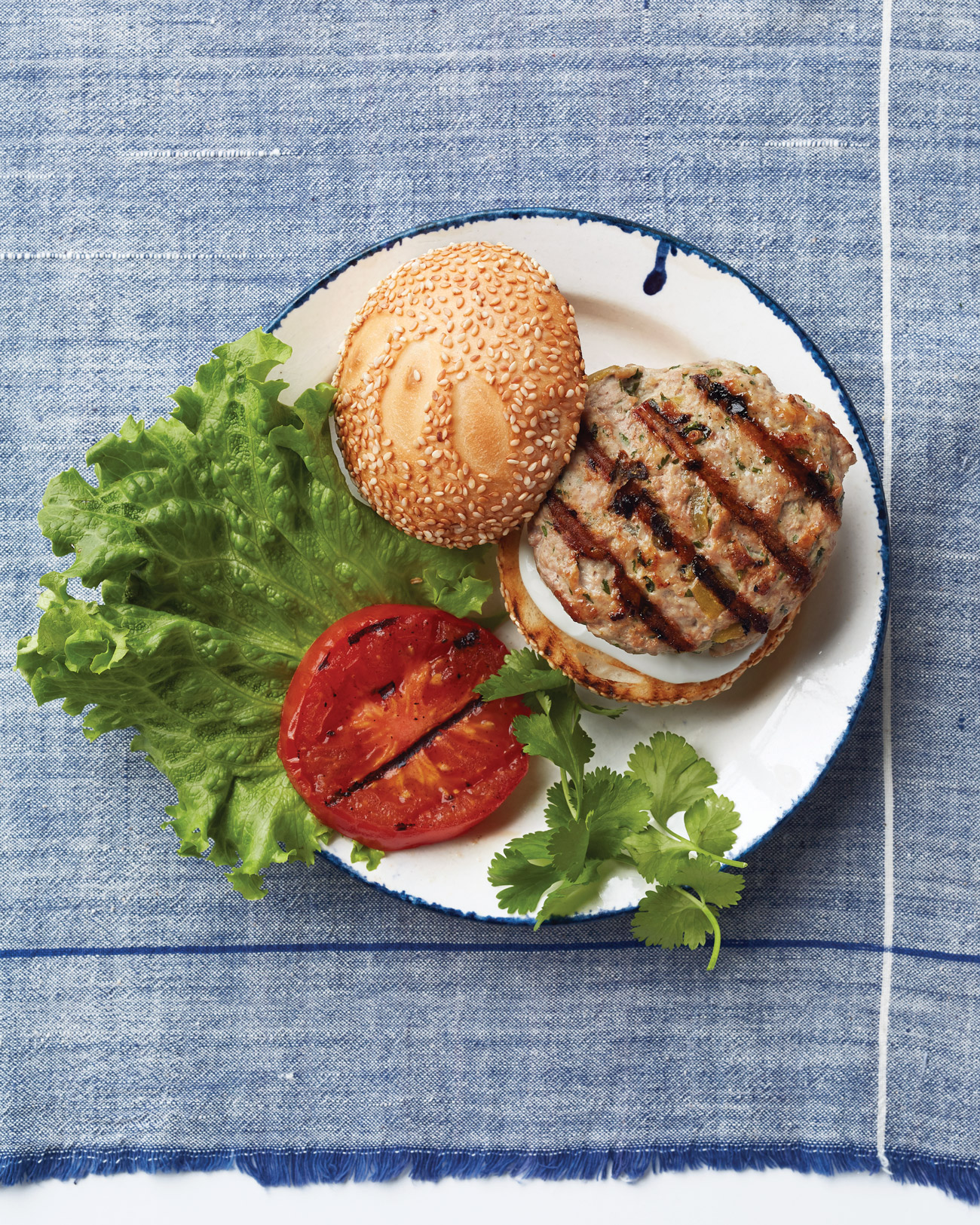 Green-Chile Chicken Burgers