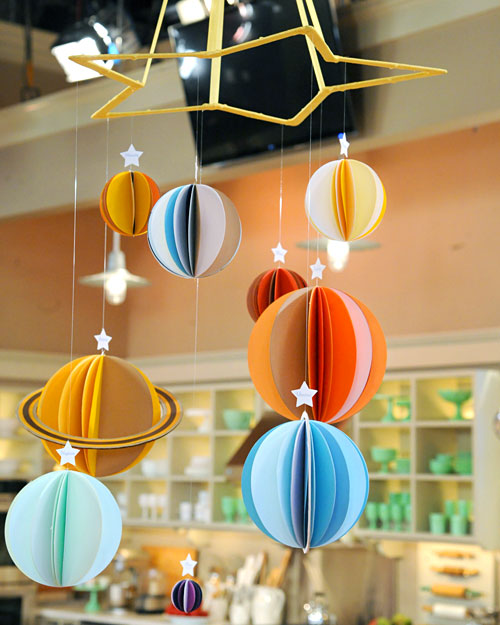 handmade solar system mobile - photo #2