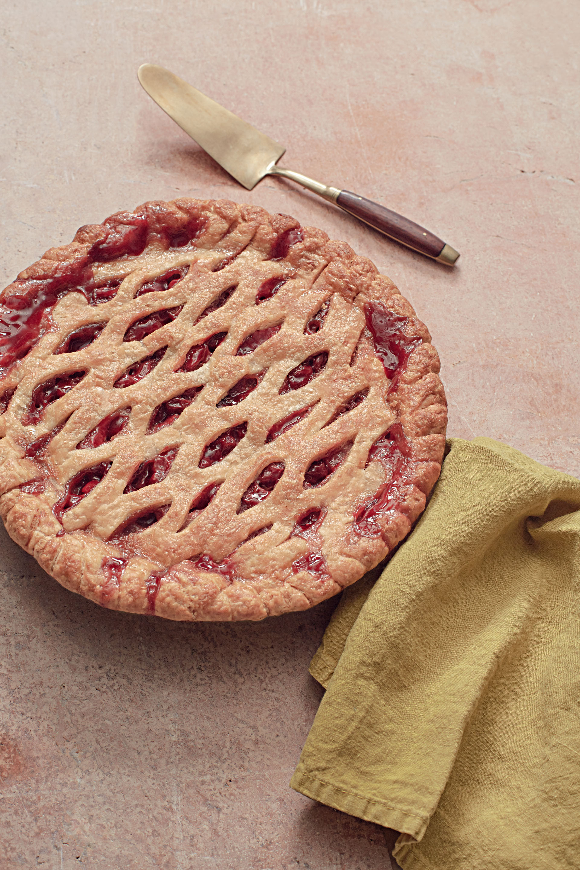 Pear and Sour-Cherry Pie