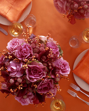 Pink, Green, and Gold Arrangements