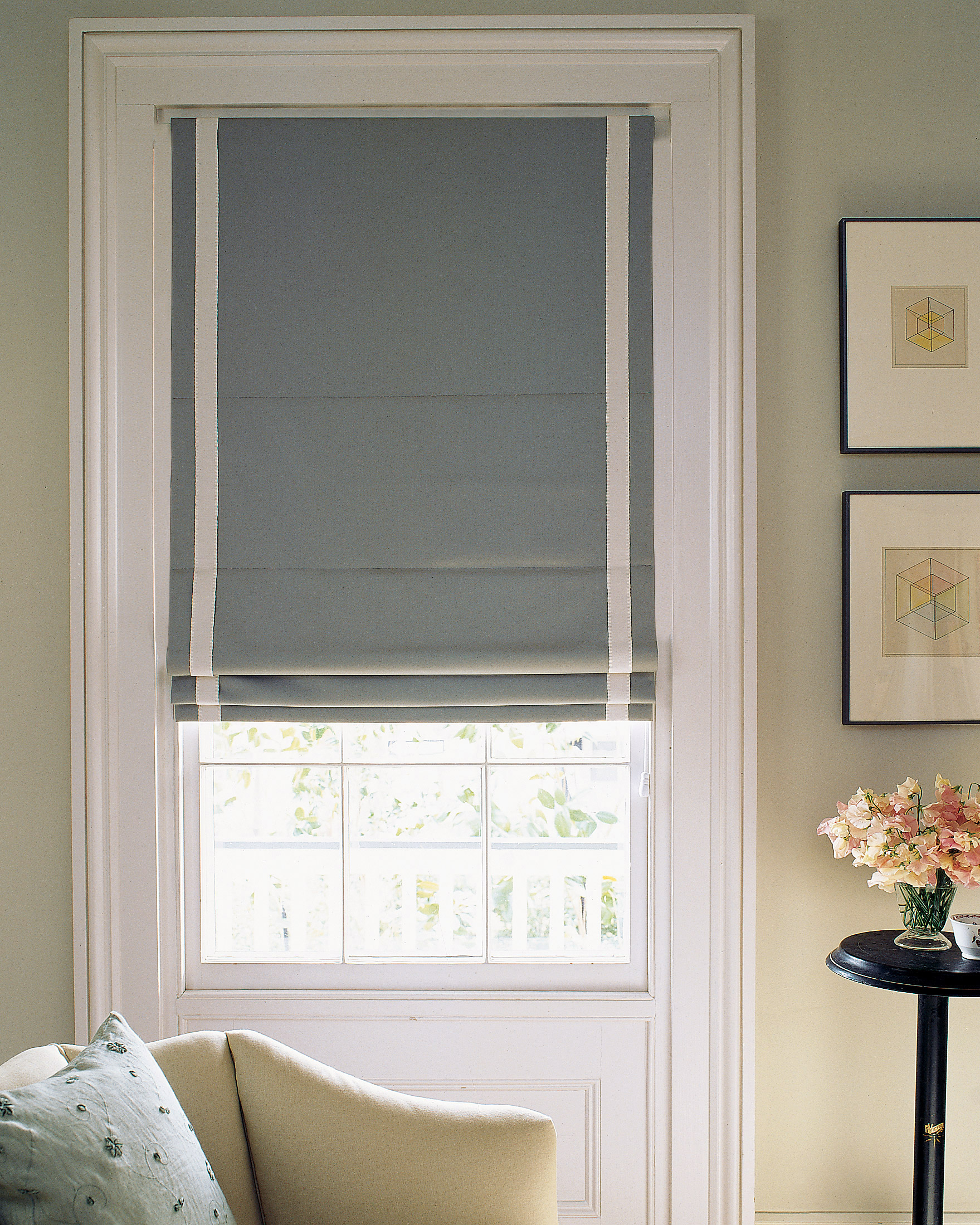 How To Make Roman Shades In Three Different Styles Martha Stewart