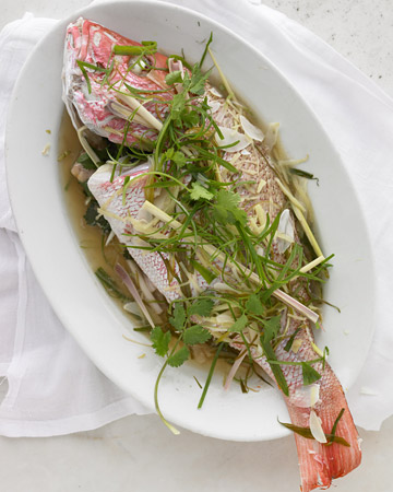 Fantastic fish recipes martha stewart tv for Steamed whole fish