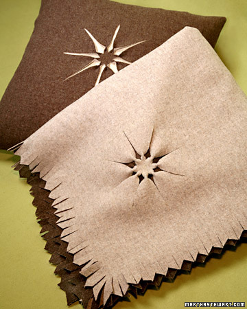 snowflake template martha stewart - wool blanket step by step diy craft how to s and