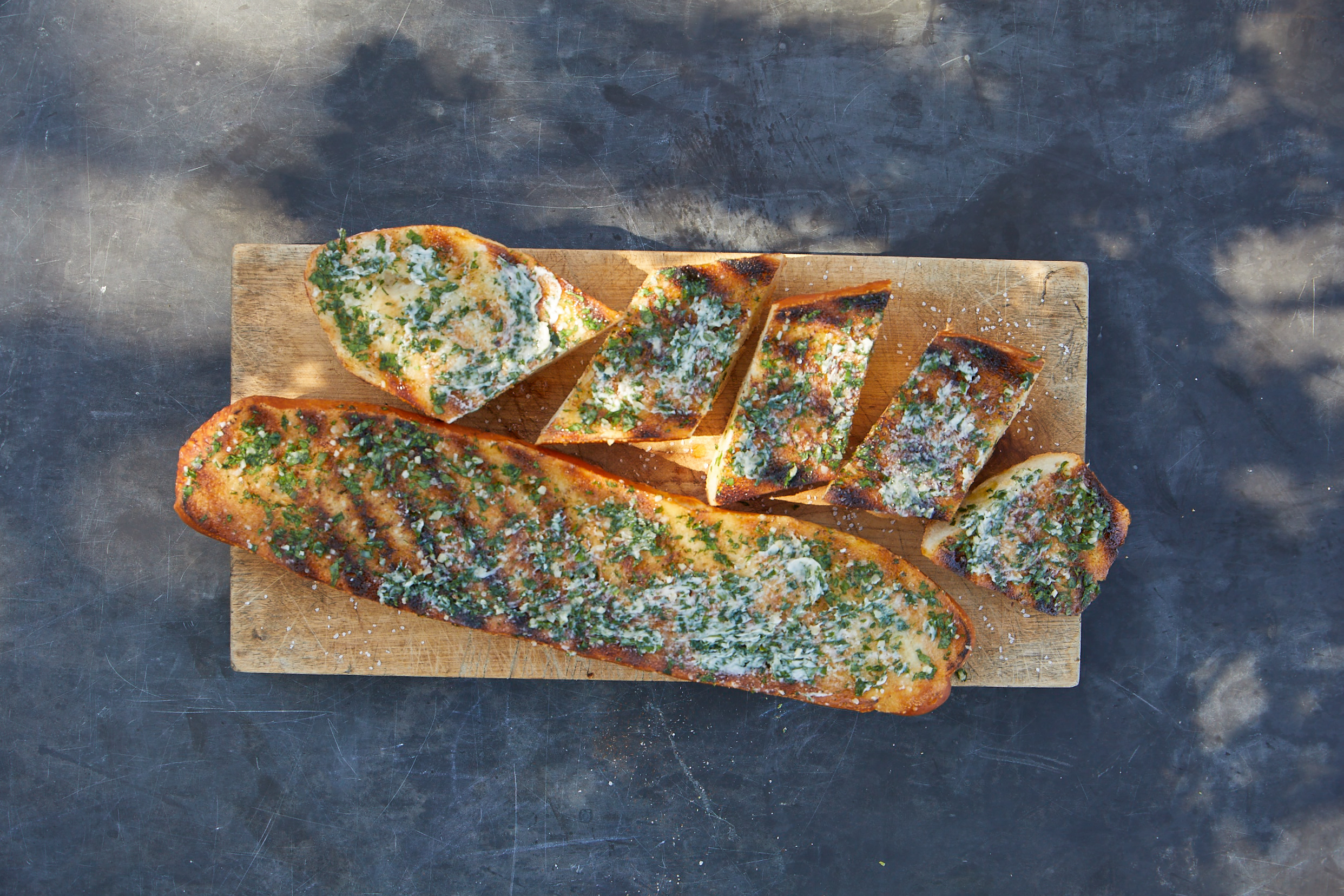 Grilled Garlic Bread with Herb Butter