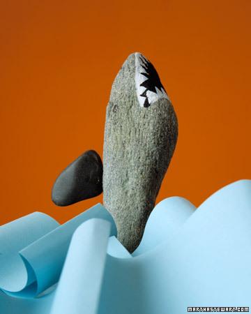 Грозная и зубастая акула из булыжника.  Просто нарисуйте при помощи...