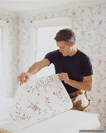 hanging wallpaper gluing and booking step by step diy