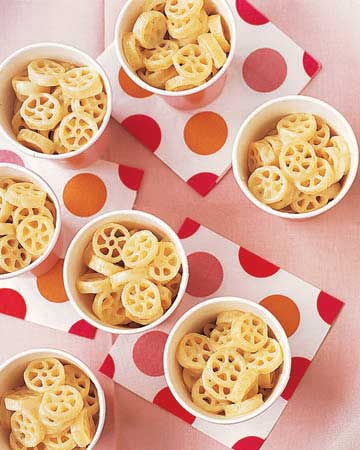 Pasta Wheels and Cheese
