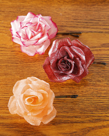 paper flower templates martha stewart - hard flower barrettes martha stewart