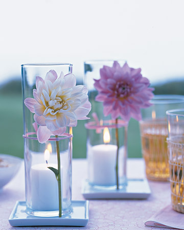 Candle centerpieces martha stewart for Baby shower decoration ideas martha stewart