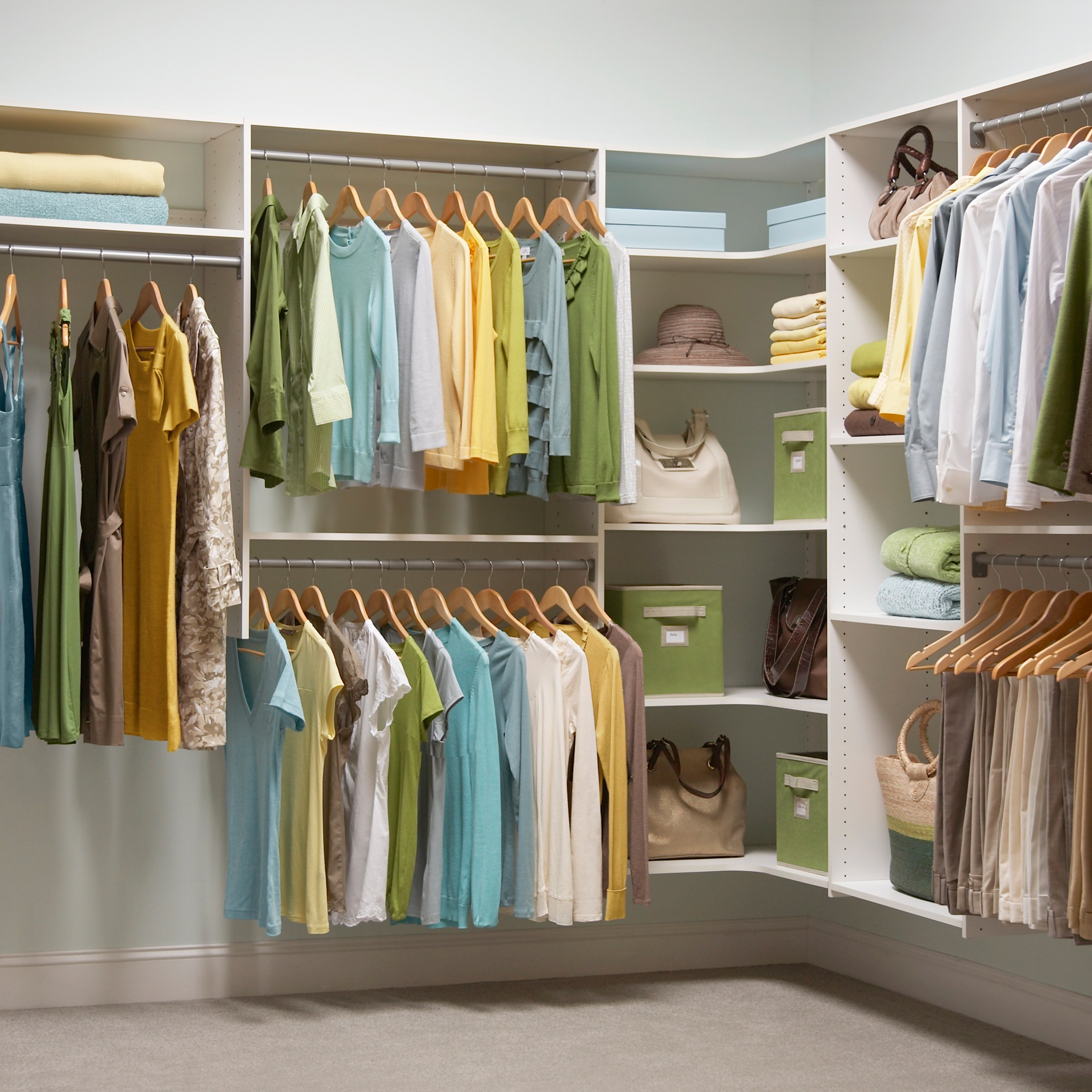 Closet organization made simple by martha stewart living Pictures of closet organizers